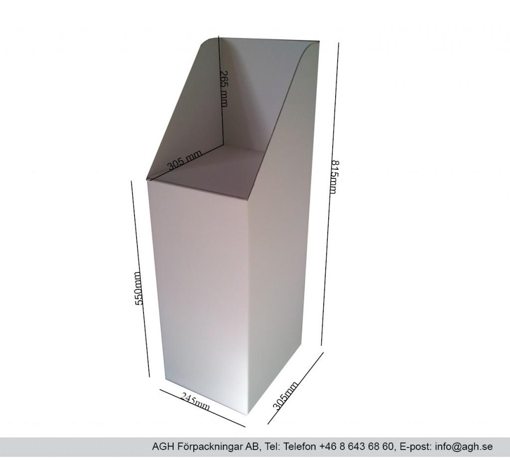 Stadigt golvställ för minitabloidtidningar